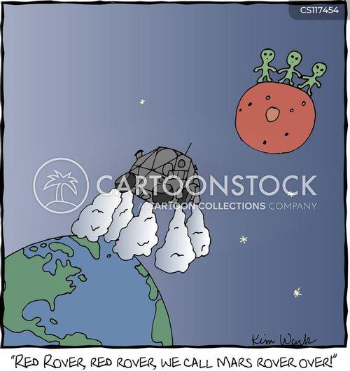 red rover cartoon