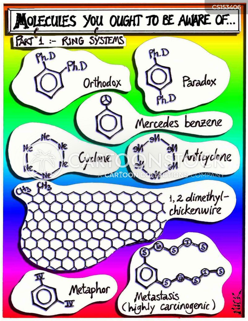 molecule cartoon