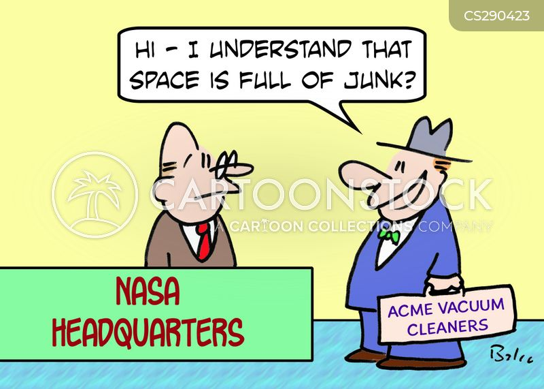 space junk cartoon