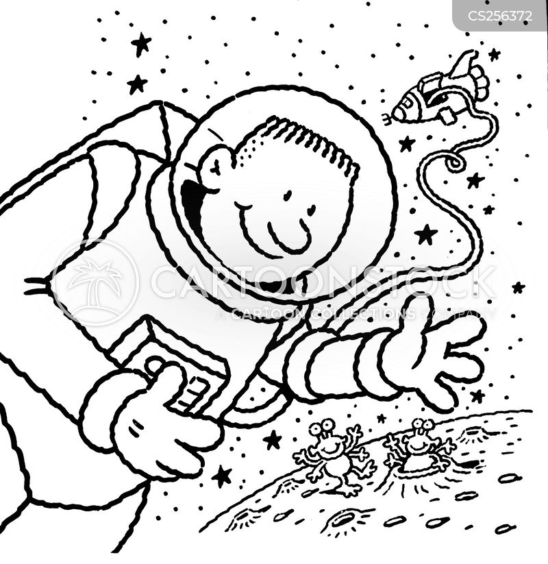 space man cartoon