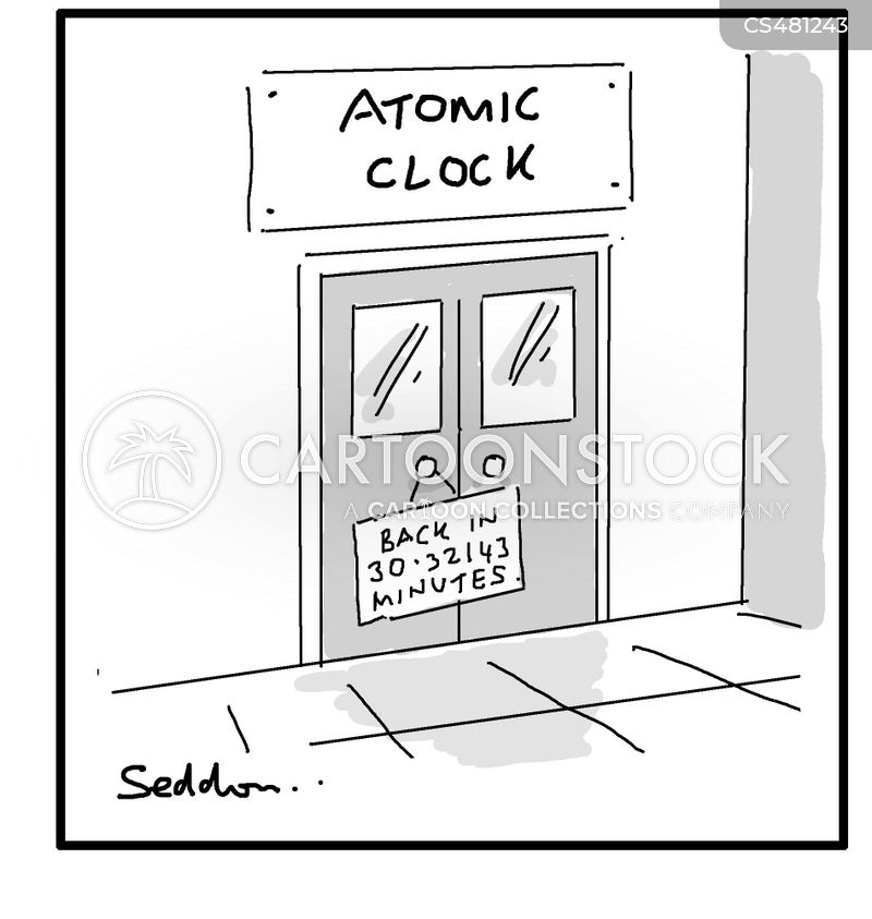 atomic clock cartoon