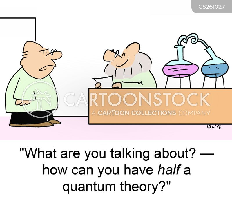 quantum physicist cartoon