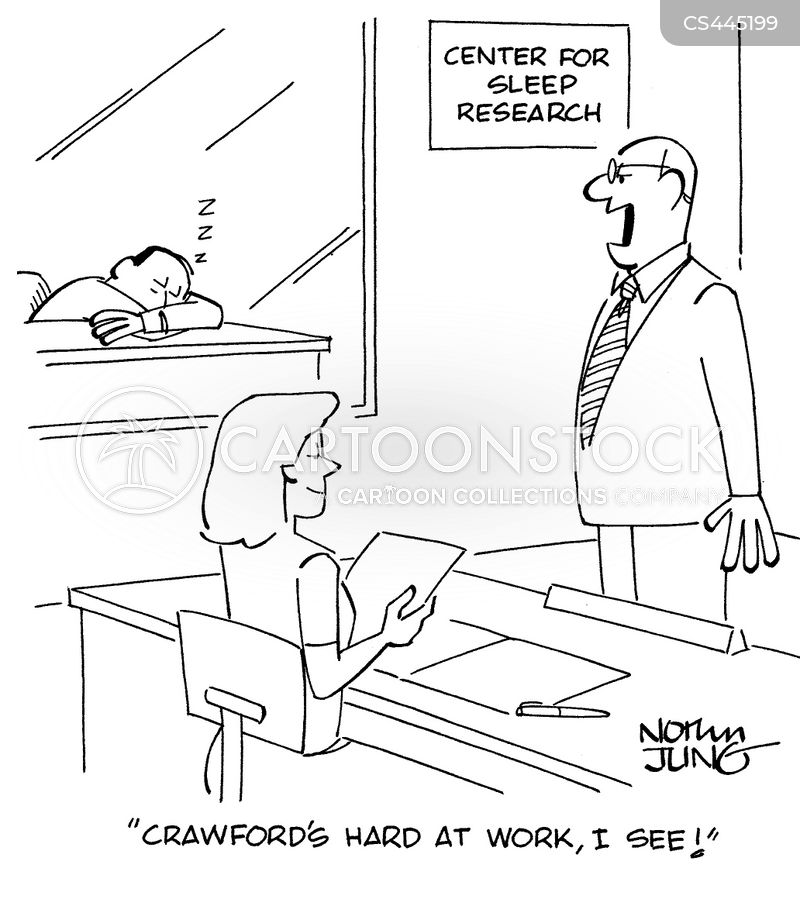 sleep researcher cartoon
