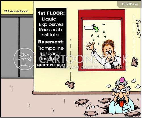 expliding cartoon
