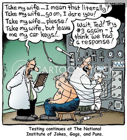test subjects cartoon