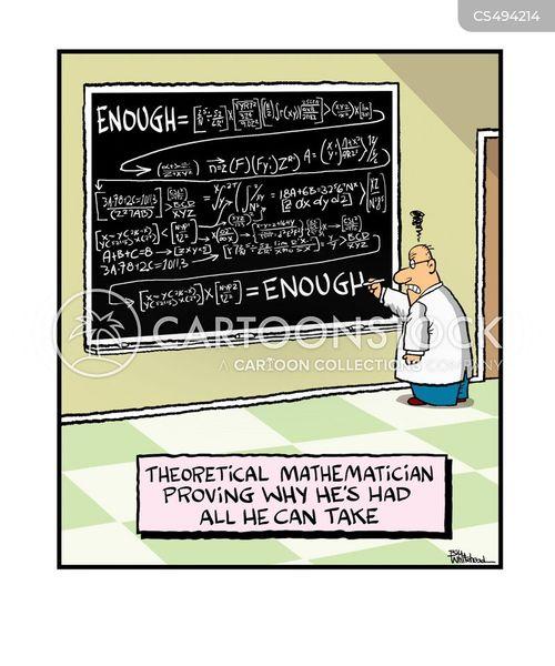 mathematical equation cartoon