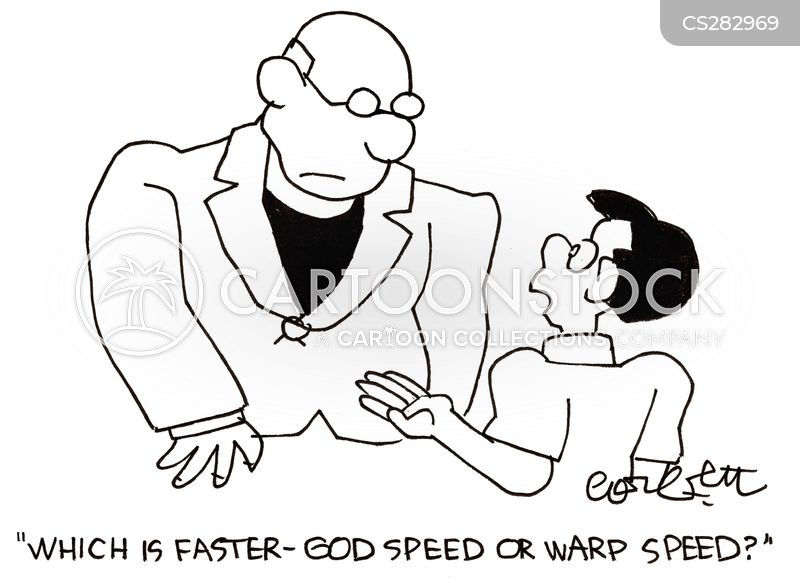 warp speed cartoon