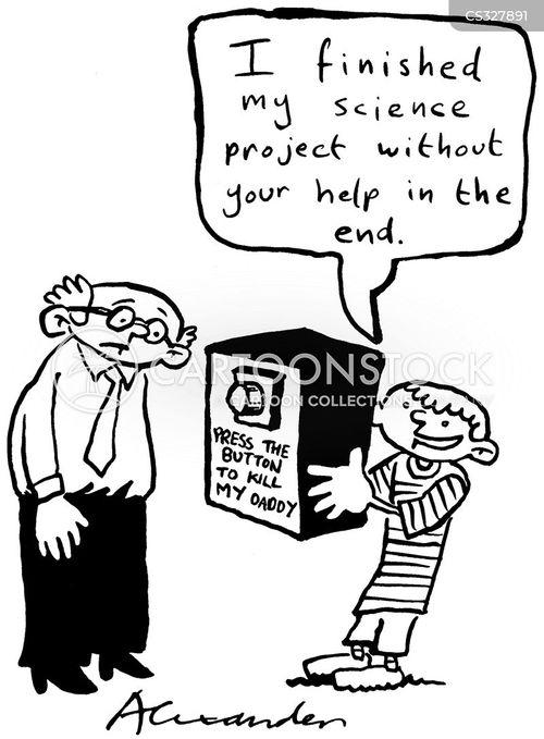 school projects cartoon