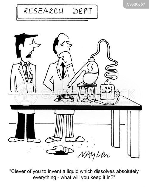 scientific experiments cartoon