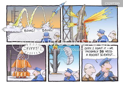 rocket scientists cartoon
