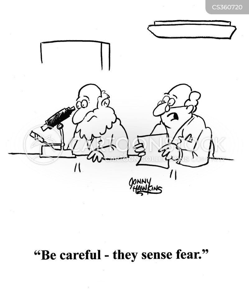 sense fear cartoon
