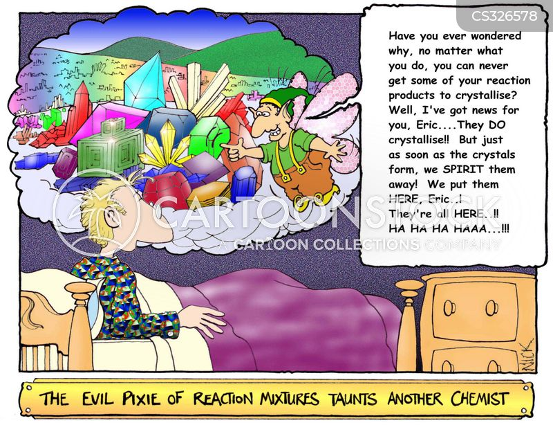 chemical reactions cartoon