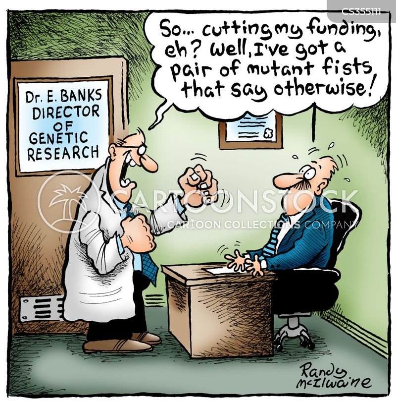 funding cut cartoon