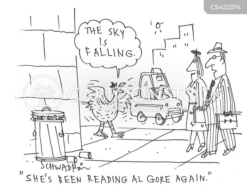 sky is falling cartoon