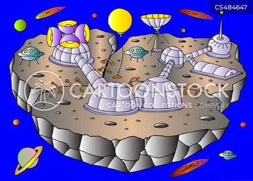 space colony cartoon