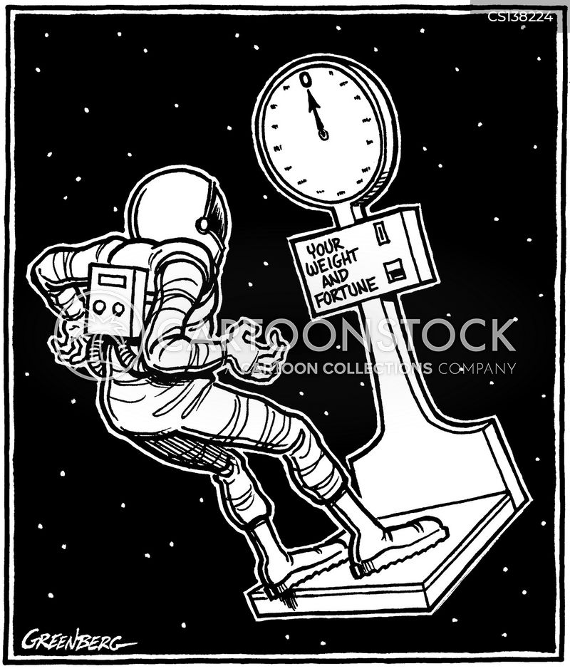 weightlessness cartoon