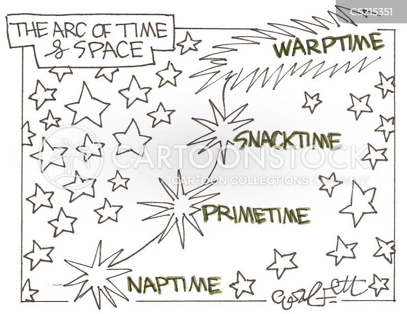 space time continuum cartoon