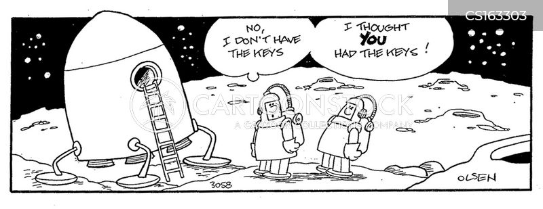 astronautics cartoon
