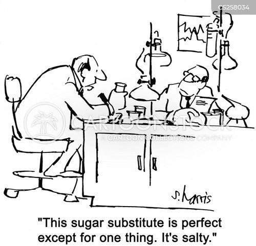 sugar substitutes cartoon