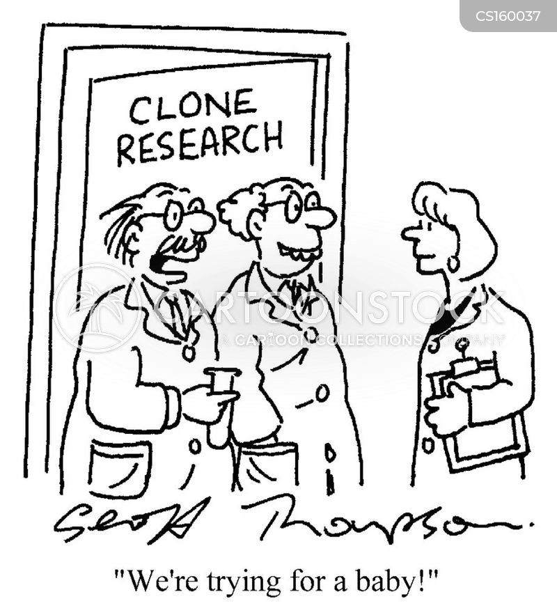 clone research cartoon