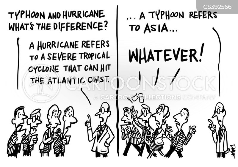 tropical cyclones cartoon