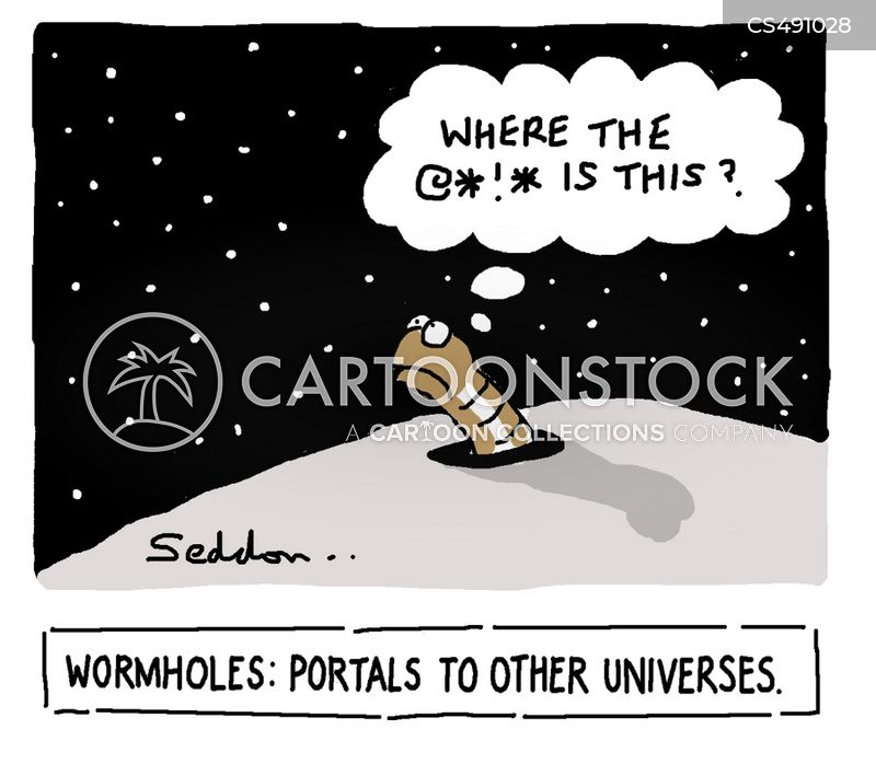 space and time cartoon