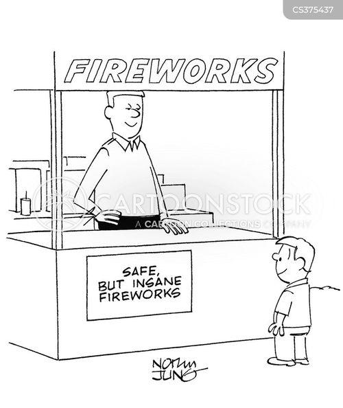 firework display cartoon