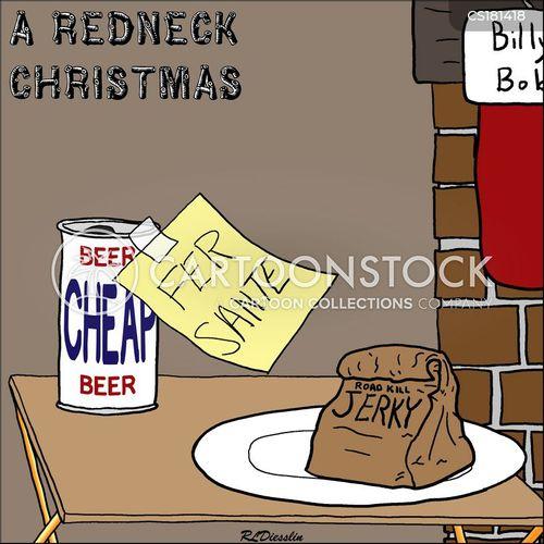 Smoking Redneck Christmas Poster |Redneck Christmas Cartoons