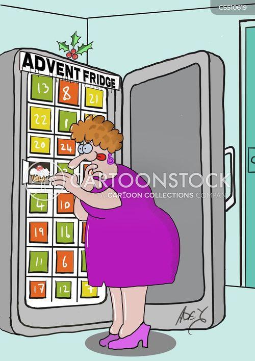 holiday weight gain cartoon