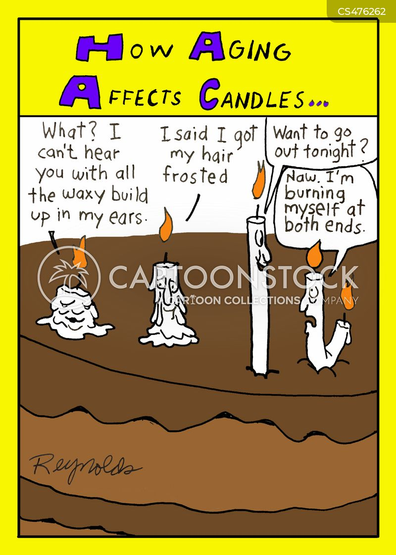 burning the candle at both ends cartoon