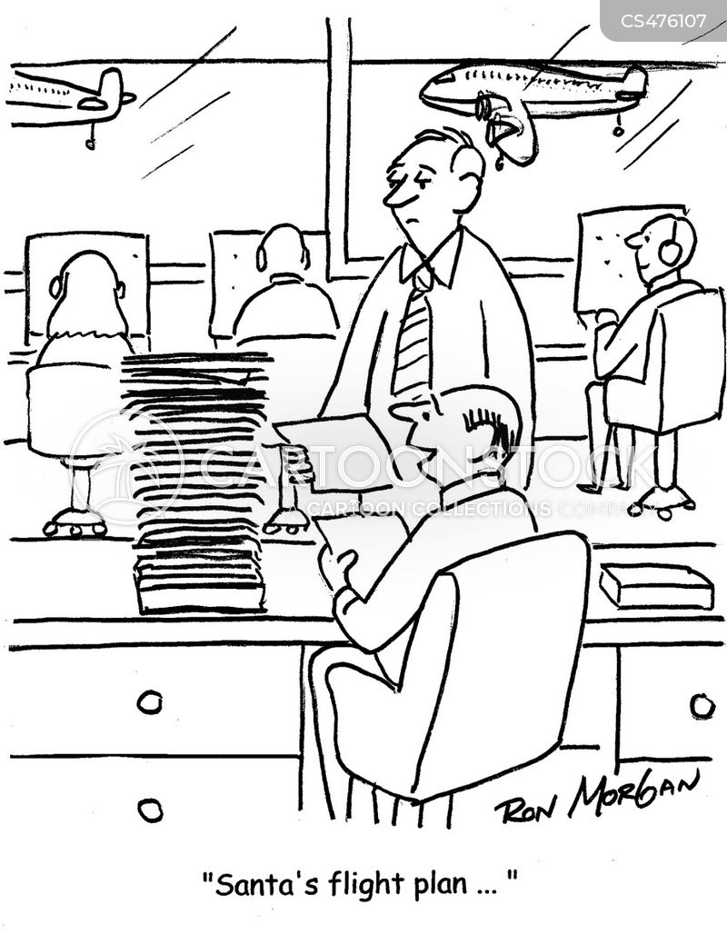 air traffic controllers cartoon