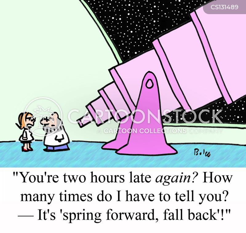 clock change cartoon