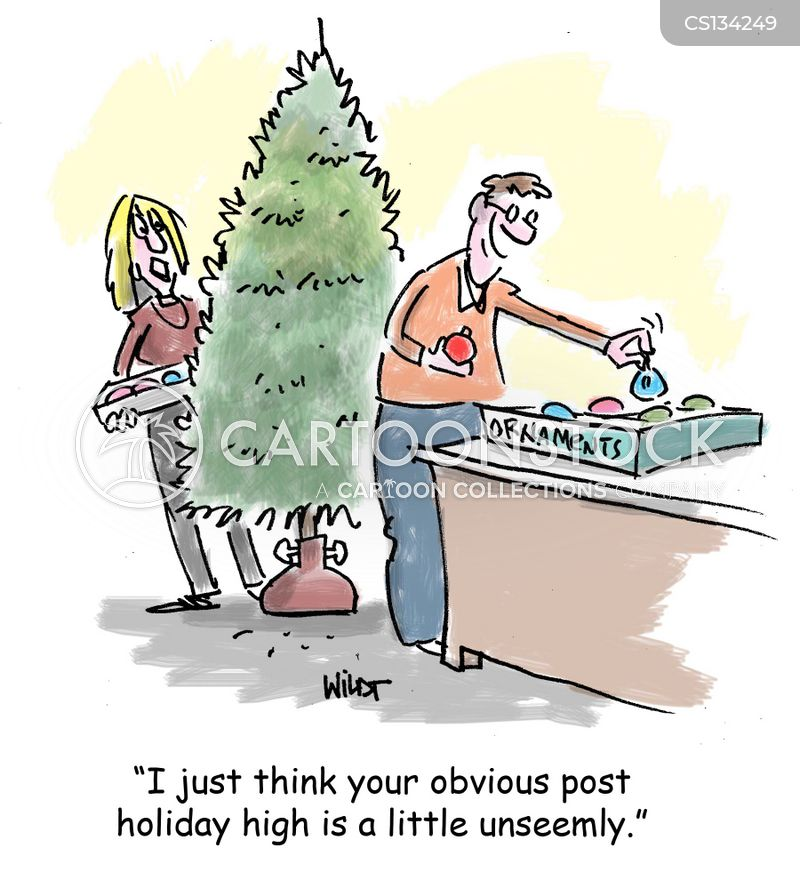 post-holiday cartoon