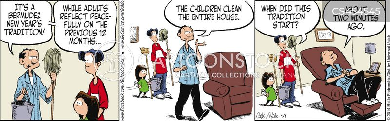 clean house cartoon