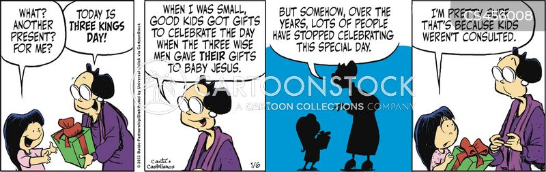 el dia de los reyes cartoon