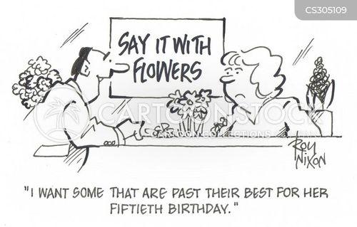 flower store cartoon