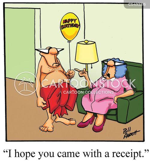 gift receipts cartoon