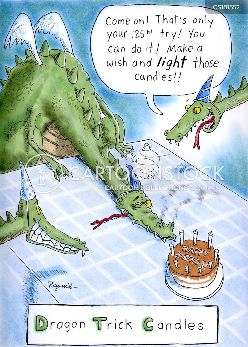 trick candle cartoon