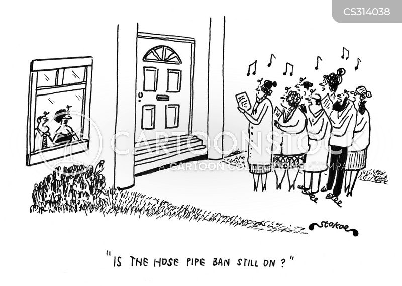 hose pipe ban cartoon