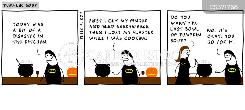 carving pumpkins cartoon