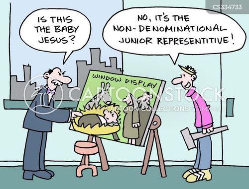 denominations cartoon