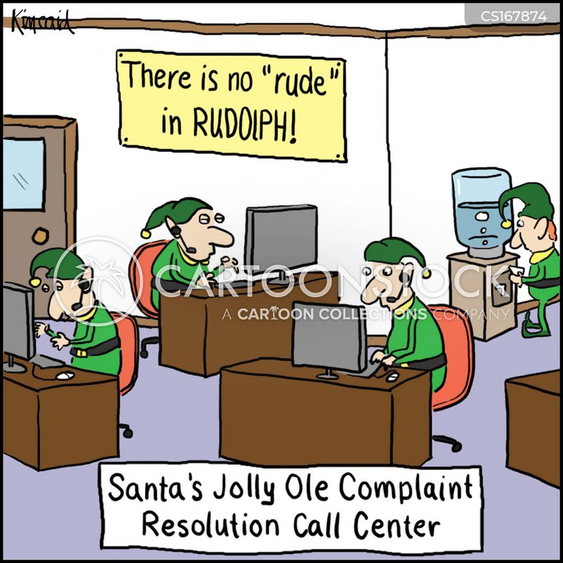 call centers cartoon