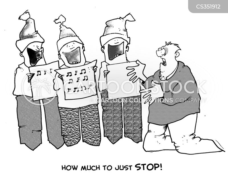 carol singers cartoon