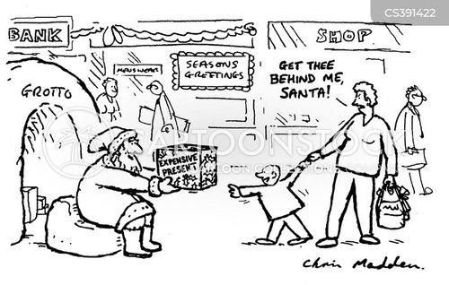 santas grotto cartoon
