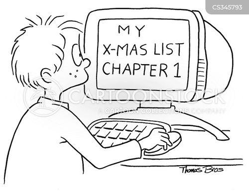 xmas lists cartoon