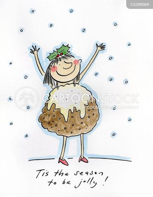 christmas puddings cartoon