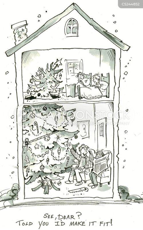 fir trees cartoon