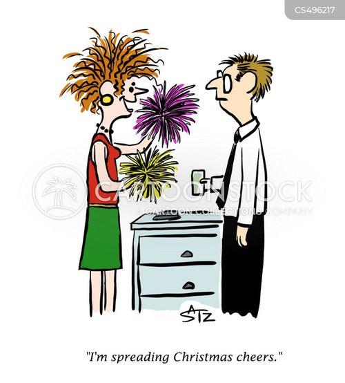 christmas cheer cartoon