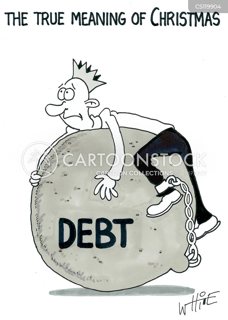 christmas debt cartoon