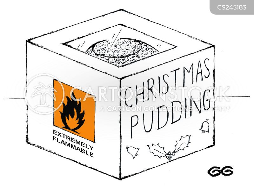 christmas puds cartoon